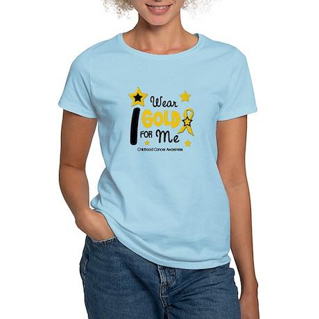 I Wear Gold 12 Me CHILD CANCER Women's Light T-Shi