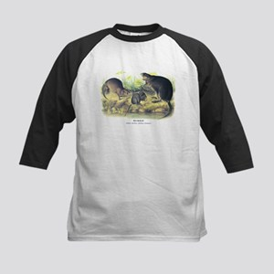 Audubon Muskrat Animal Kids Baseball Jersey