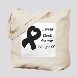I WEAR BLACK for my Daughter Tote Bag