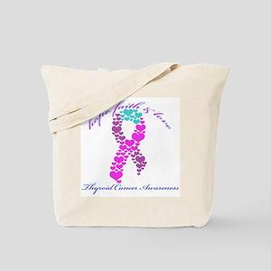 Thyroid Hope Faith and Love Tote Bag
