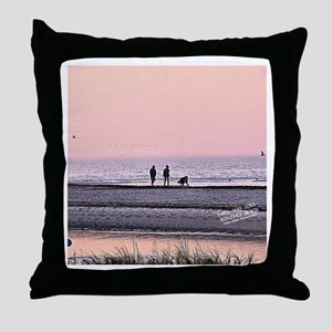 3-Way Love; Man-Woman-Dog at Ridgevale Beach Throw