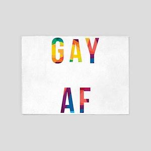 LGBT Gay AF Rainbow Gay Lesbian Pri 5'x7'Area Rug