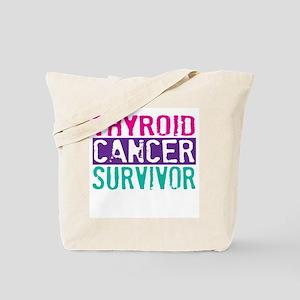 Proud Thyroid Cancer Survivor Tote Bag