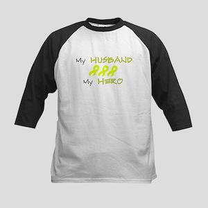 Hero Husband Yellow Kids Baseball Jersey
