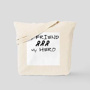 Hero Friend Black Tote Bag