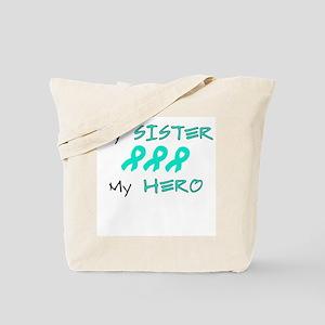 Hero Sister Teal Tote Bag