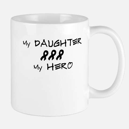 Hero Daughter Black Mug