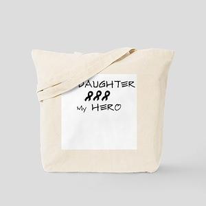 Hero Daughter Black Tote Bag