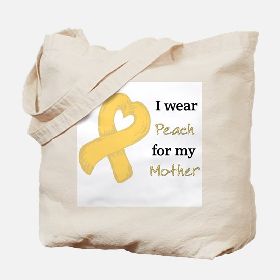 I WEAR PEACH for my Mother Tote Bag