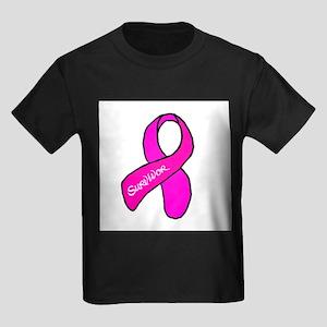 Breast Cancer Survivor Kids Dark T-Shirt
