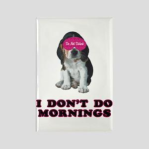 Beagle Mornings Rectangle Magnet