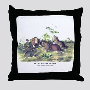 Audubon Gopher Animal Throw Pillow