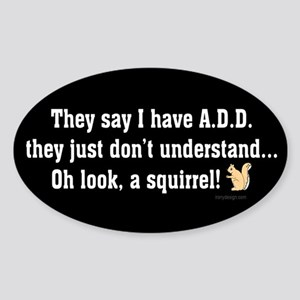 ADD Squirrel Sticker (Oval)