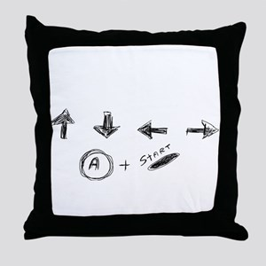 Cheat Code Throw Pillow