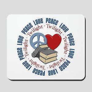 Peace Love Twilight Book Mousepad