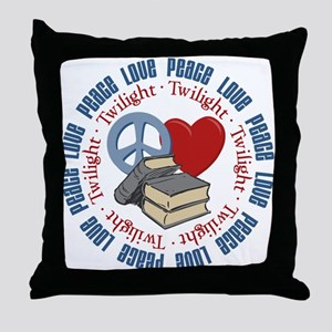 Peace Love Twilight Book Throw Pillow