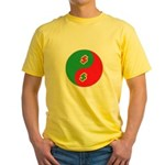 Save Spend Yin Yang Yellow T-Shirt