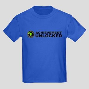 Achievement Unlocked Kids Dark T-Shirt