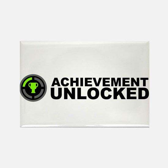 Achievement Unlocked Rectangle Magnet