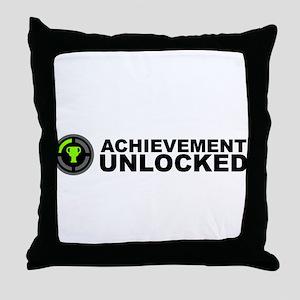Achievement Unlocked Throw Pillow
