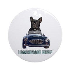 LOL French Bulldog Ornament (Round)