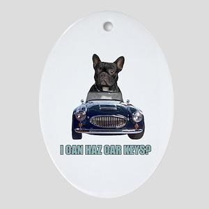 LOL French Bulldog Oval Ornament