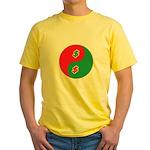Spend Save Yin Yang Yellow T-Shirt