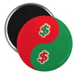 "Spend Save Yin Yang 2.25"" Magnet (10 pack)"