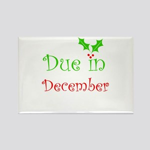 Due in December (holiday) Rectangle Magnet