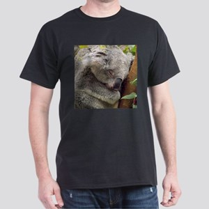 Sleeping Koala Black T-Shirt