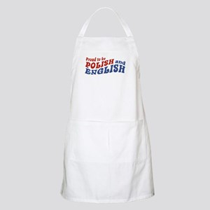 Proud To Be Polish and English BBQ Apron