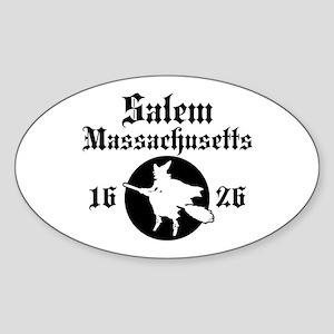Salem Massachusetts Oval Sticker