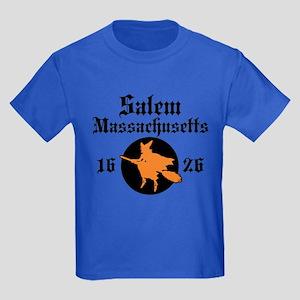 Salem Massachusetts Kids Dark T-Shirt