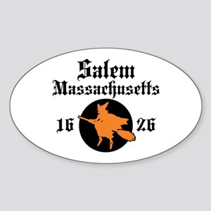Salem Massachusetts Oval Sticker