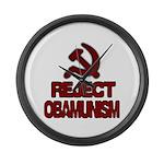 Reject Obamunism Large Wall Clock