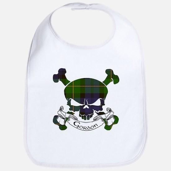 Gordon Tartan Skull Bib