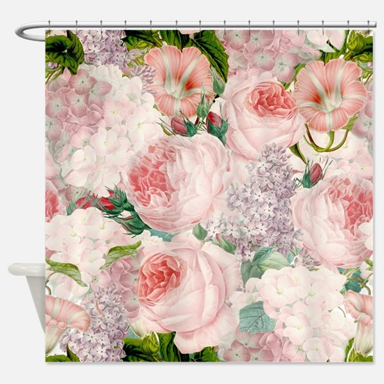 Cute Blooming Shower Curtain