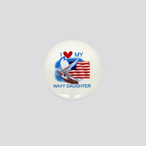 Love My Navy Daughter Mini Button