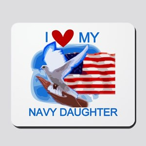 Love My Navy Daughter Mousepad