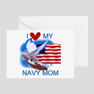Love My Navy Mom Greeting Card