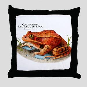 California Red-Legged Frog Throw Pillow