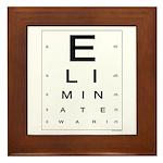 ELIMINATE WAR! Framed Tile