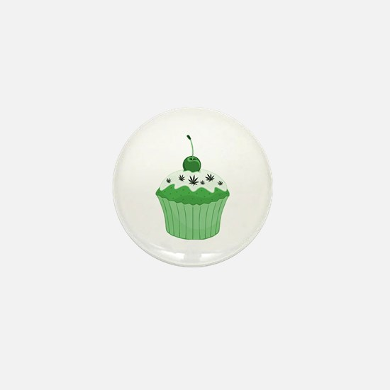 Mary Jane's Green Cupcake Mini Button