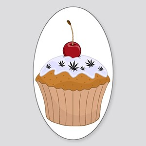Mary Jane's Cupcake (Color) Oval Sticker
