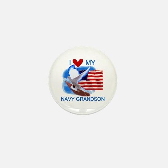 Love My Navy Grandson Mini Button