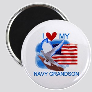 Love My Navy Grandson Magnet