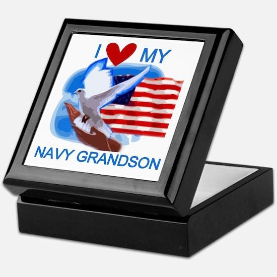 Love My Navy Grandson Keepsake Box