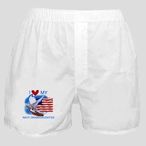 Love My Navy Granddaughter Boxer Shorts