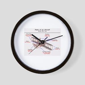 1903 Wright Flyer Parts Wall Clock