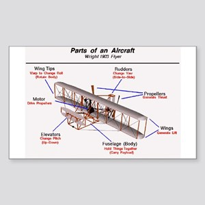 1903 Wright Flyer Parts Rectangle Sticker